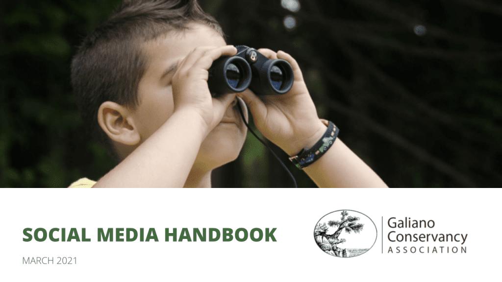 Galiano Conservancy Social Media Handbook Cover