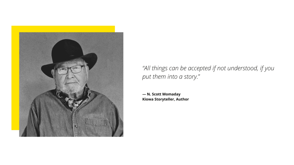 N. Scott Momaday Quote on Storytelling