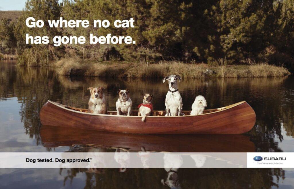 "Subaru Creative Ad ""Go where no cat has gone before."""