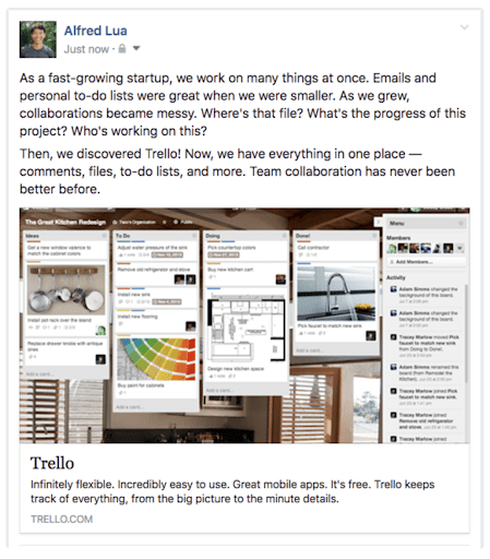 Trello 3-Act Structure for Social Media Brand Storytelling