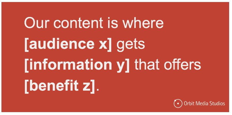 Set better goals for content marketing with Content Purpose or Content Mission Statement